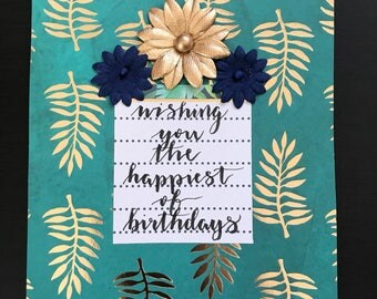 Wishing you the happiest of birthdays greeting card