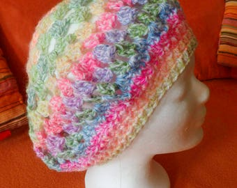 Homemade crocheted summer Hat