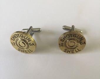 12 Gauge Shotgun Shell Cufflink Set Boxed