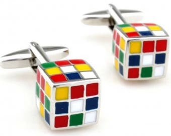 Puzzle Cube Controller Cufflink Set Boxed