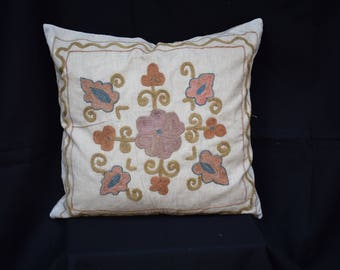 suzani handwoven pillow cover suzani cotton pillow cover Ethnic pillow cover Bohamin pillow cover Set pillow cover Bed pillow cover
