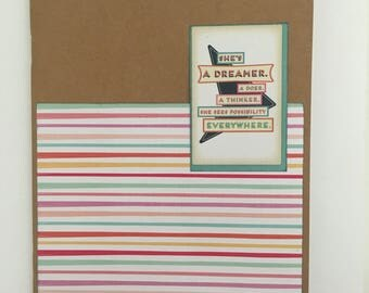 Decorated Notebook - Possibilities Everywhere (N07)