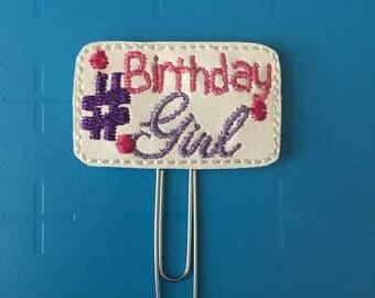 Birthday Girl Planner Clip