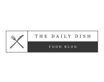 Food Blogger Logo - Premade Logo - Blogger Logo - Restaurant Logo - Shop Logo -  Small Business Logo - Minimal Logo - Custom Logo