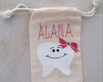 Girl's Tooth Fairy Bag- Tooth Fairy Keepsake