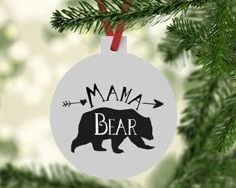 Bear Ornament, Mama Bear Ornament, Christmas Ornament, New Mom Ornament, Christmas Gifts, Mama Bear, Bear Family Ornament, Matching Ornament