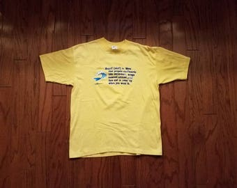 Vintage yellow Hawaii tshirt LARGE