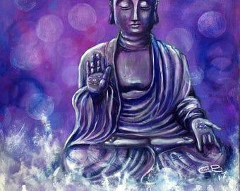 "Serenity Buddha -  8""x12"" Canvas Print"