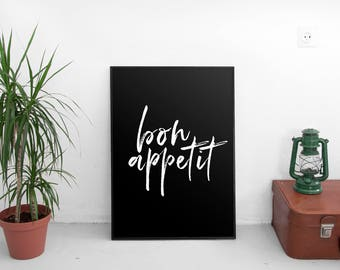 Bon Appetit, Bon Appetit Print, Kitchen Printable, Kitchen Art, Kitchen Print, French Printable, Dining Room Print, Food and Drink Print