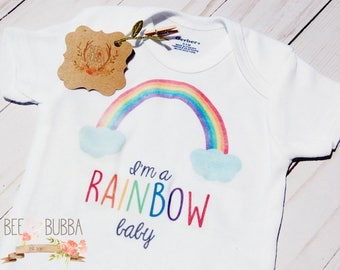 I'm A Rainbow Baby Onesie®, Rainbow Baby Shower Gift, Miracle Baby Bodysuit, Pregnancy Announcement, Cute Baby Clothes, Take Home Outfit