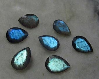 20 pic.natural blue flashy Labradorite 3x5 mm pear and round cut faceted loose gemstone with free shipping