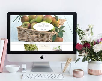 Website Design, Website template, custom website, web design, website, small business website, farm website, food website, fresh food