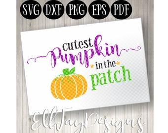 Cutest pumpkin in the patch svg, kids halloween svg, fall svg, newborn baby svg, pumpkin svg, halloween cut files, shirt svg kids, halloween