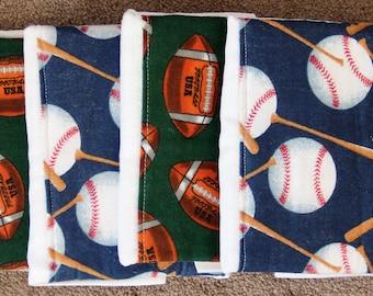 Burp Cloths - Set of 4 ~ #2B-1353