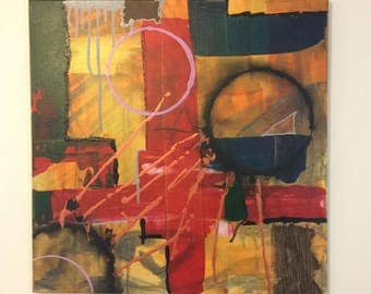 RedCross. Abstract painting, canvas, modern, acrylic painting, Abstract, abstract art ,canvas art, modern, original