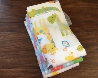Cloth Diaper w/ Zorb II , Prefold Diaper , Animals, Zoo, Reusable Diaper, Fish, Ducks, Trifold Zorb Soaker Booster, Baby Branch Boutique