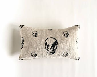 decorative skull pillow case/ skull pillow cover/ skull pillow case/ room decor/ skull throw pillow
