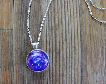 Space figured premium pendant necklace
