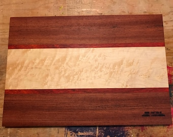 Gorgeous Birdseye Maple/Jatoba/Bubinga wood Cutting Board