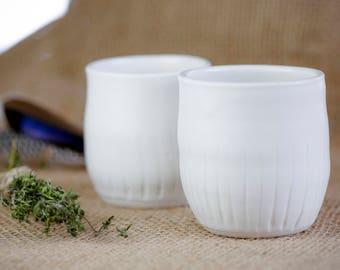 Set of 2 Ceramic Cups - Ceramic Cups - Pottery Mugs - Ceramic Tumblers - Handmade Pottery - Wine Glass - Juice Cup