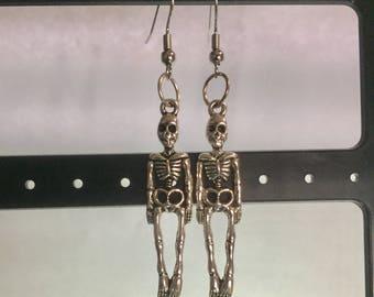 Skeleton hook earrings
