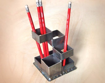 Industrial Desk Organizer For Home And Office Loft Office Pen Holder Desk  Storage Accessories Pencil Cup