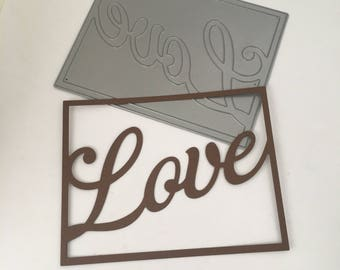 Framed Love die cut / Papertey Ink / Sweet word Accents / Scrapbooking / Card Making / Arts and Crafts / Love Die Cut