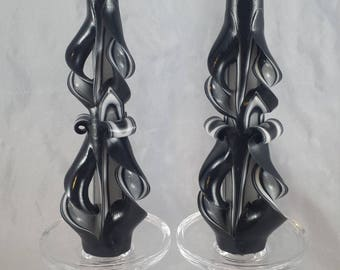 carved taper candles
