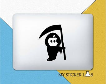 MacBook Decal Apple MacBook Sticker Apple Logo Decal MacBook Pro Decal Grim Reaper MacBook Air Decal MacBook Retina Decal Vinyl Sticker m034