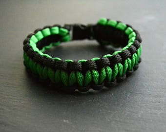 Survival Parachord Bracelet Green