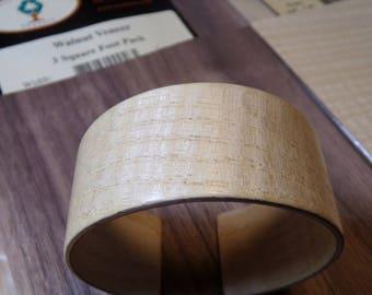 Quarter sawn Ash and American Walnut Bentwood Bracelet