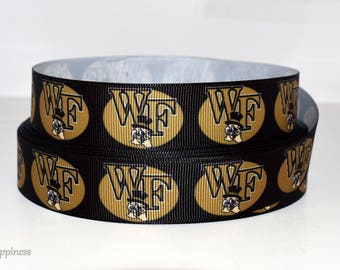 "Wake Forest 7/8"" Grosgrain Ribbon 151A"