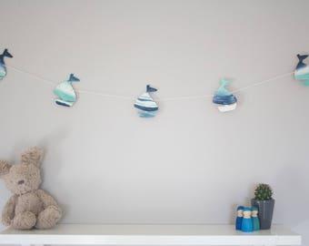 Sail boat bunting, sail boat garland, nautical nursery decor, new baby gift, kids room, wooden bunting, playroom decor