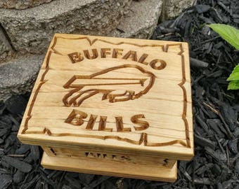Personalized Buffalo Bills Gift Box, stash box, Trinket box, Birthday, Anniversary, Graduation, Wedding, Groomsmen, Retirement Gift