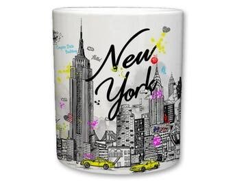 New York City Mug | Big Apple - Empire State Sketch Mug
