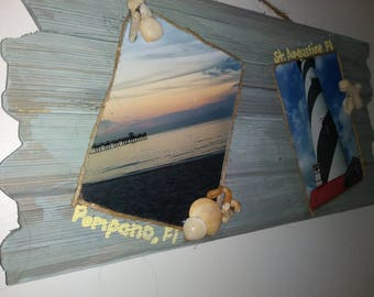 Wood photo canvas