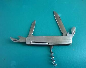 Pocket Knife, Vintage, Knife, Pen Knife, Mother of Pearl Case, Mens, Pocket Knives, Pen Knives from All Vintage Man, 5 compartments