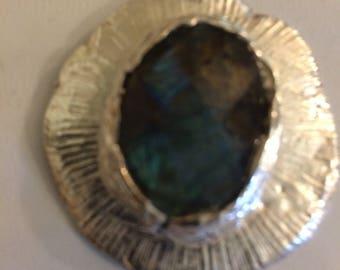 2nd (Silver Pendant with Labradorite Cabochon)