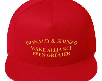 Donald and Shinzo: Make Alliance Even Greater HAT Flat Bill Cap
