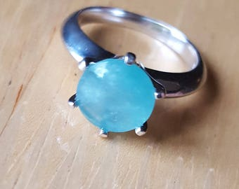 2.53cts Grandidierite and silver ring