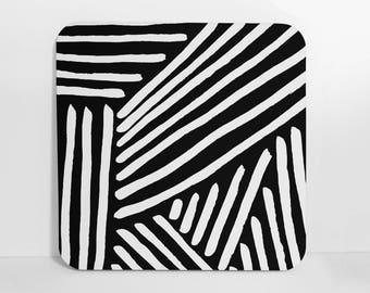 Black and White Coasters, Set of Coasters, Cork Back Coasters, Cork Back, Drink Coasters, Bar Accessories, Coasters, Beverage Coasters