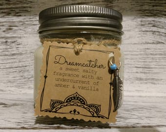 Dreamcatcher Scented Handmade Natural Soy Candle With Wood Wick