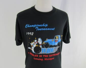Vintage 90s WIBC Championship Tournament Size XL Women's International Bowling Congress Lade in USA 1992 Lansing, Michigan