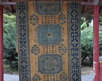 Oushak Runner Area Rug 4.1 x 10.9 feet Free Shipping Bohemian Runner Rug Area Rug Boho Decor Floor Rug Aztec Runner Area Rug DC725