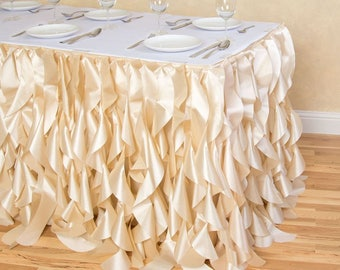 17 Ft. Curly Willow Table Skirt