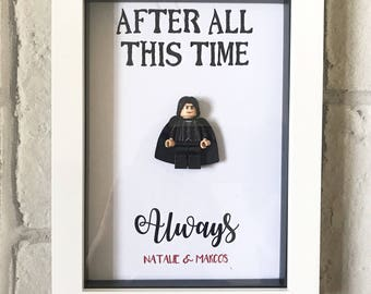 After all this time always - Severus Snape Quote - Severus Snape Lego Frame -  Harry Potter Gift - Valentines Gift - Anniversary Gift -