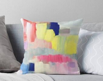 Accent Pillows -  Decorative Pillows - Abstract Art Pillows - Blue Pillows - Enjoy FREE Shipping