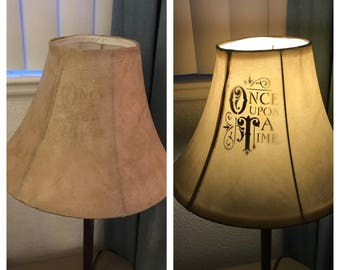 Once Upon A Time Vinyl Lamp Decal
