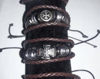 Leather & Hemp Trendy Bracelet