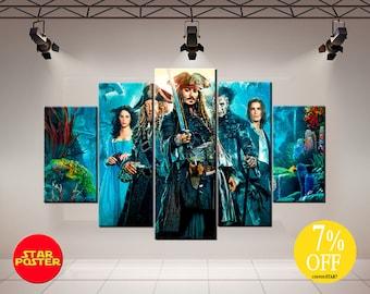 Pirates of the Caribbean, Jack Sparrow, Captain Jack Sparrow, Dead Men Tell No Tales, Pirates Сanvas, Jack Sparrow Art, Jack Sparrow Print